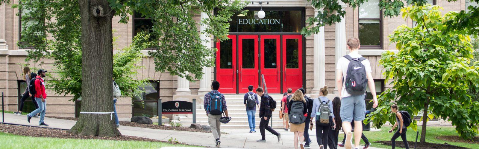 Education Building doors